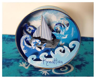 scatola creativa realizzata con materiale riciclo