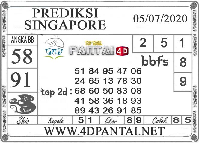 PREDIKSI TOGEL SINGAPORE PANTAI4D 05 JULI 2020