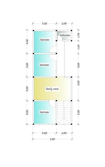 2nd floor plan of beautiful house plan 06