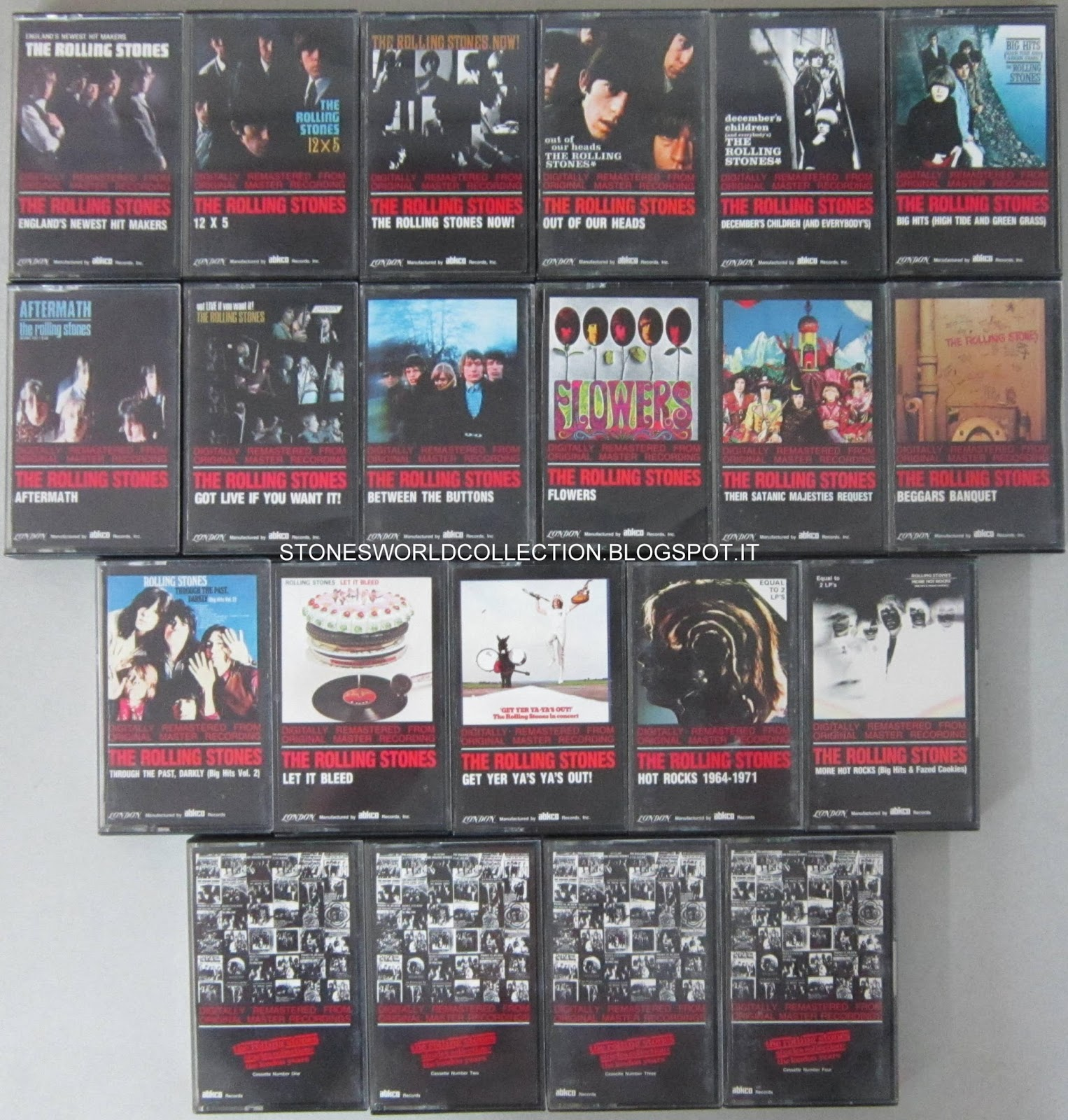 Stonesworldcollection Rolling Stones Cassette Tape