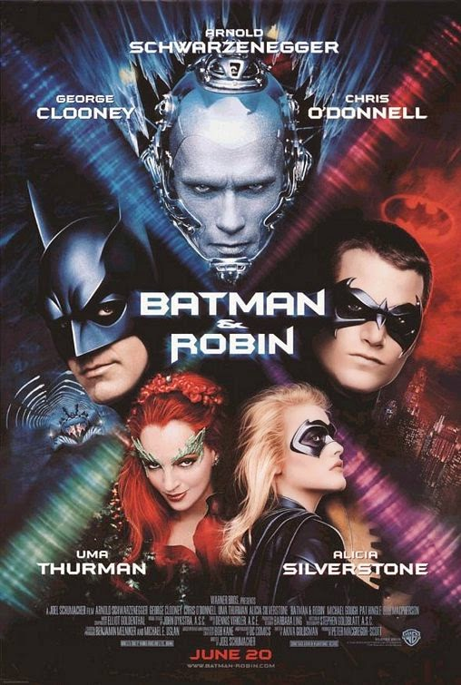 1997 Batman and Robin movie poster