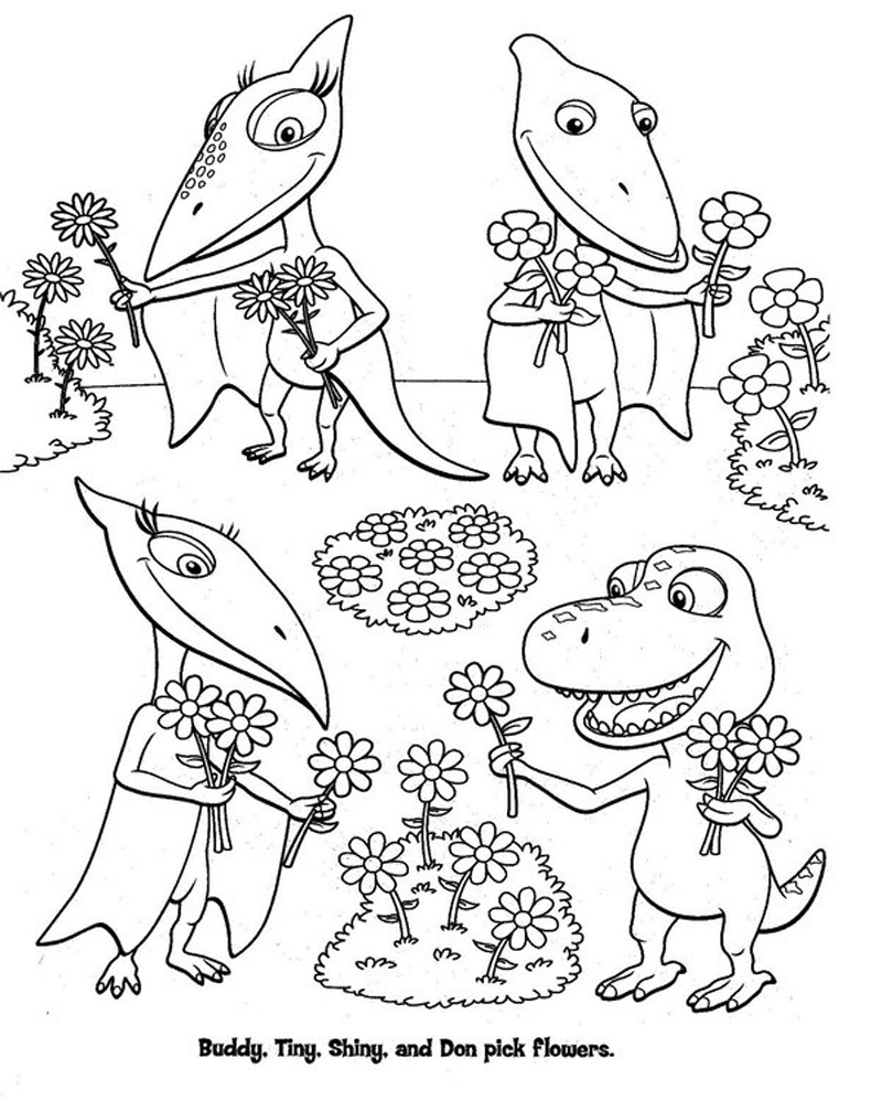 Gambar Mewarnai Dinosaurus 2