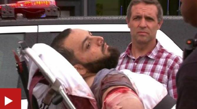 The New York and New Jersey bombings suspect is in custody after a shootout with police that began when he was found sleeping in a bar doorway.  Ahmad Khan Rahami, 28, is undergoing surgery for a gunshot wound. Two officers were also injured in the confrontation in Linden, New Jersey.  Linden is four miles (6km) south-west of the city of Elizabeth, where further devices were found late on Sunday. The FBI said no other suspect was being sought over the weekend's blasts.  Linden Mayor Derek Armstead said the suspect was found sleeping in the vestibule of Merdie's Tavern by the owner, who reported him to police.