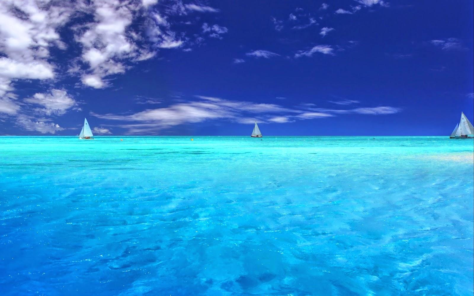 Wide ocean wallpaper