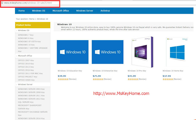 purchase office 10 product key