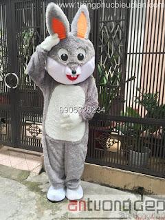 bán và cho thuê mascot thỏ xám
