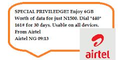Airtel 6gb data