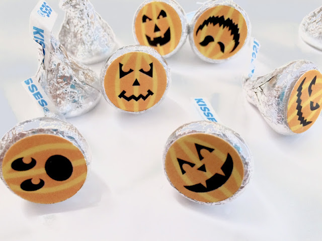 Pumpkin Hershey Kiss Labels by DIYPartyMom