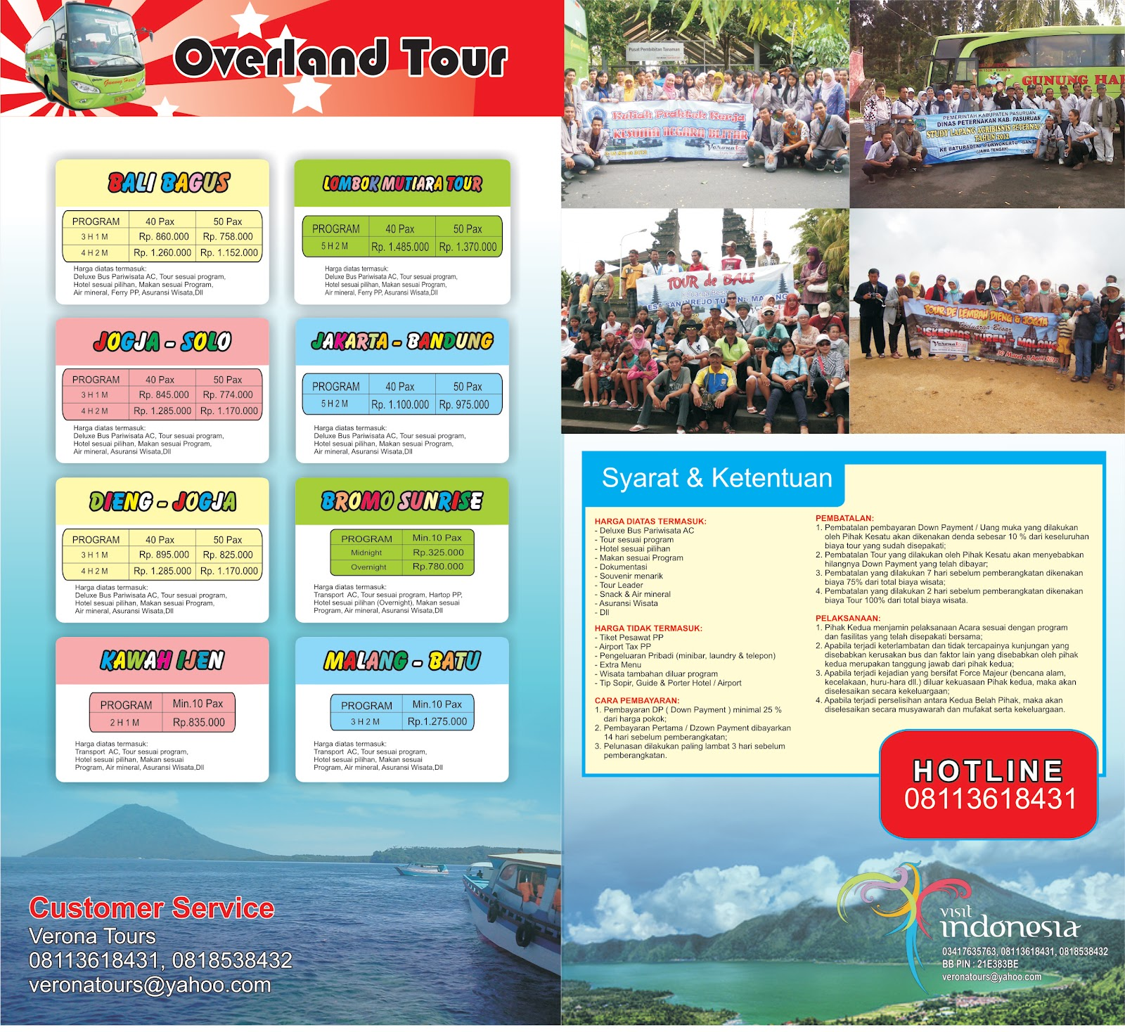 Cv Verona Indah Sejahtera Overland Tour