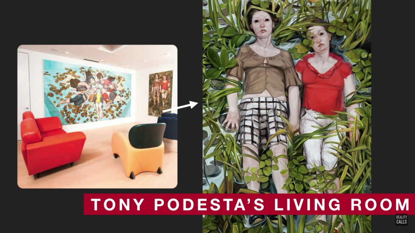 tony podesta art collection pizzagate pedophile living room
