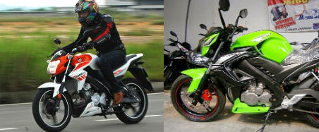 Yamaha FZ150i dan Demak Skyline