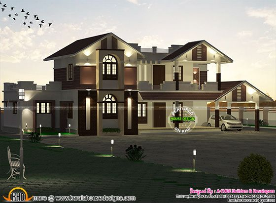 3667 sq-ft sloping roof home