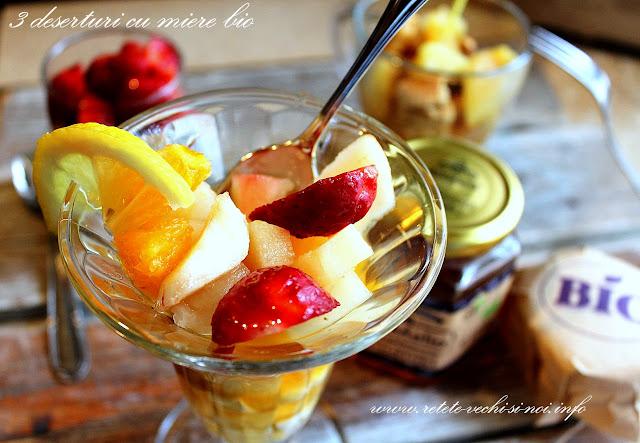 3 deserturi ușoare și rapide cu miere bio