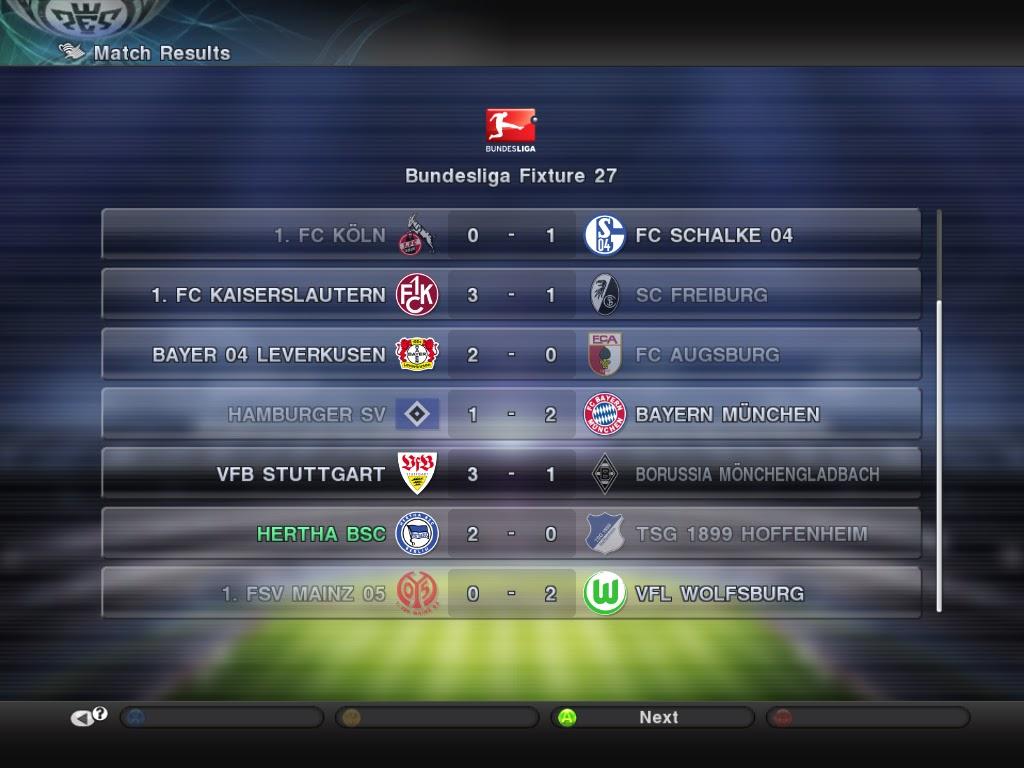 Bundesliga Fixture