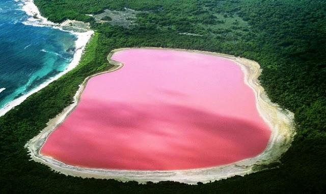Pembe Göl olarak bilinen ''Hillier Gölü'' hangi ülke sınırları içerisindedir?