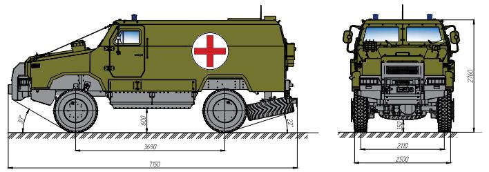бронеавтомобіль Козак-2 медичний