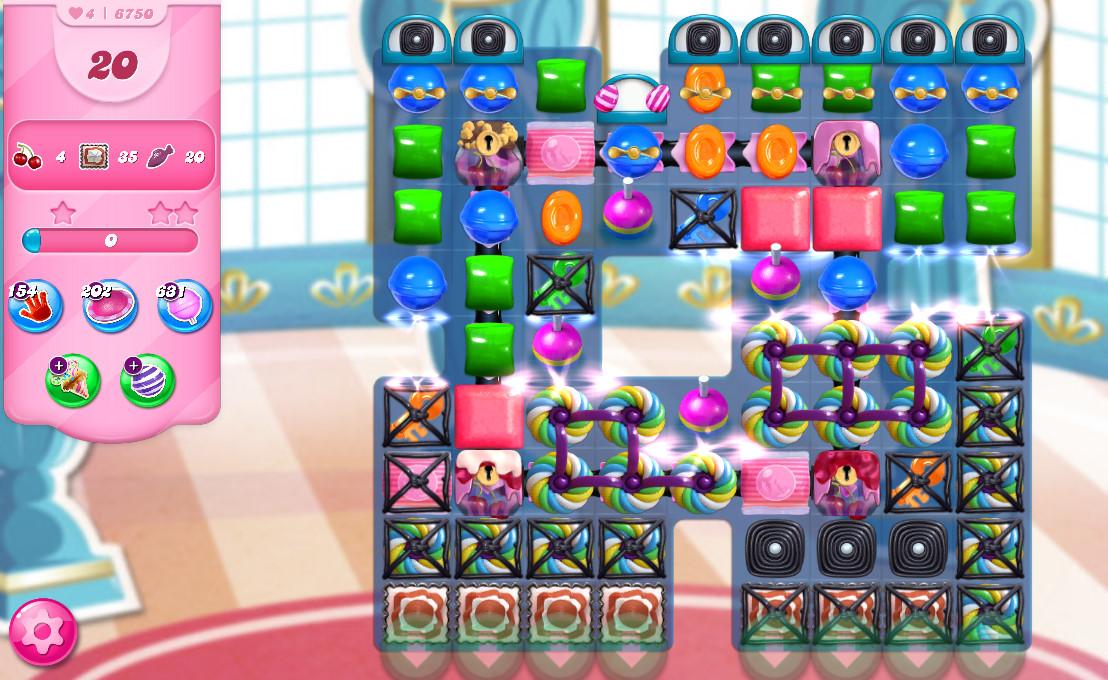 Candy Crush Saga level 6750