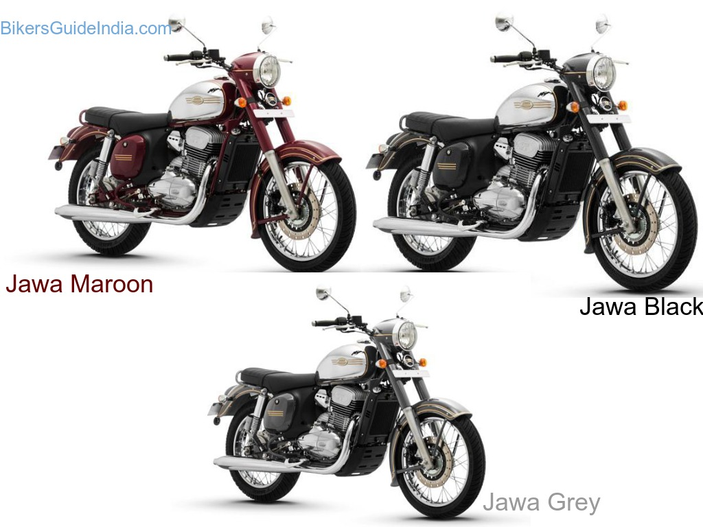 All New Jawa Specification Features price variant details