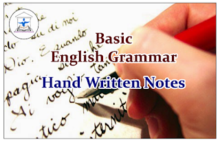Basic English Grammar-Hand Written Notes