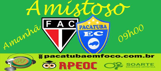 Pacatuba vence amistoso diante do Floresta