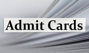Admit Cards Download