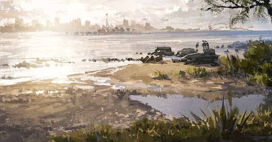 Painting practice, not far from Sydney Harbour