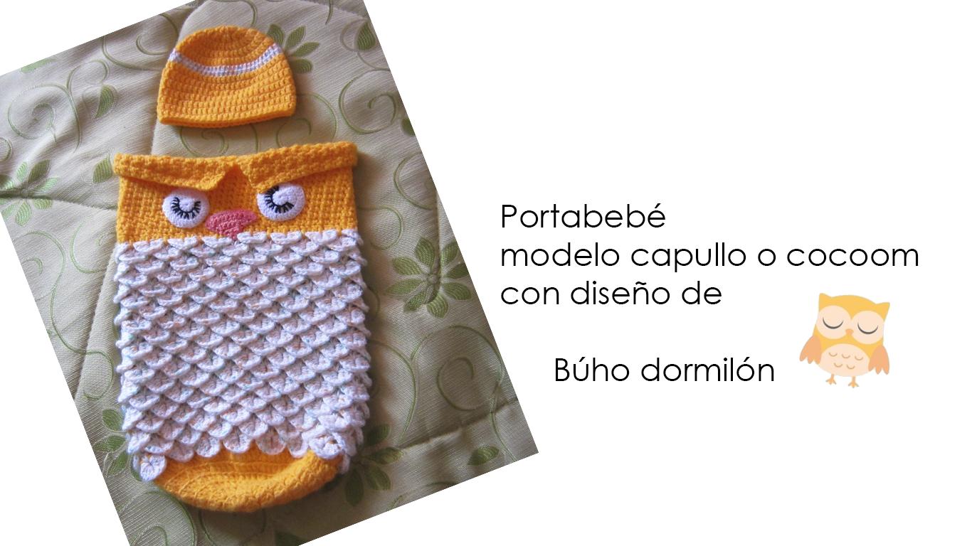 Expo Lanas y Tejidos: Porta bebé modelo capullo o cocoom con diseño ...