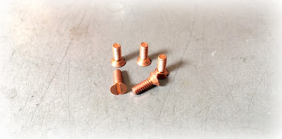 Custom Slotted Flat Copper Machine Screws - 4/40 x 5/16 in 110 Copper Material