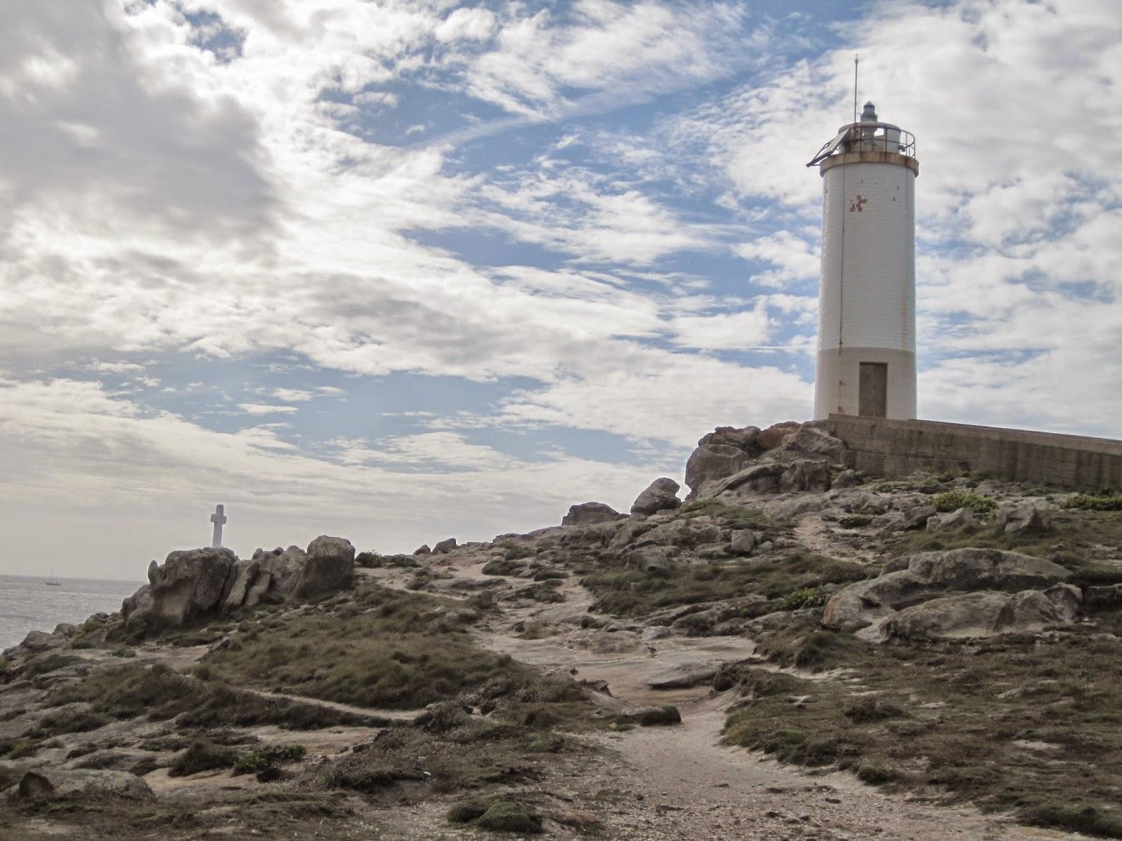 Faro Punta Roncudo en Corme en Ponteceso