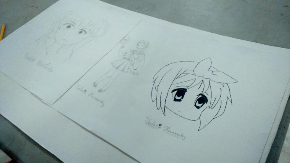 Fotos del curso de dibujo cómic manga