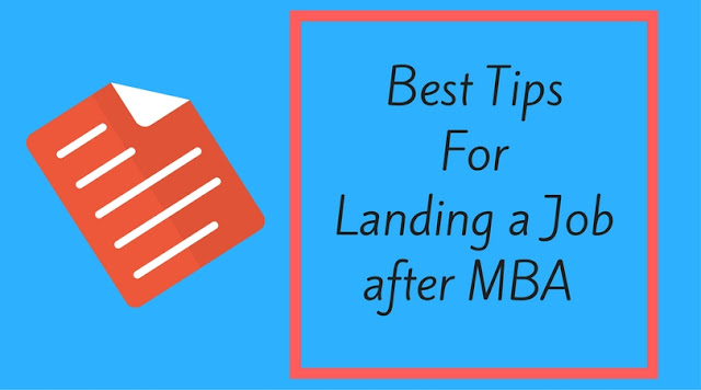 Tips for Getting a Job After MBA