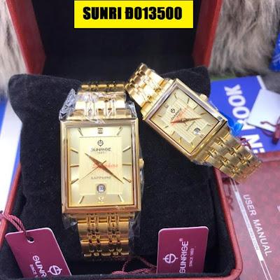 Đồng hồ đeo tay cặp đôi dây inox Sunrise Đ013500