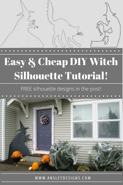 Cheap & Easy DIY Witch Silhouettes for Halloween!