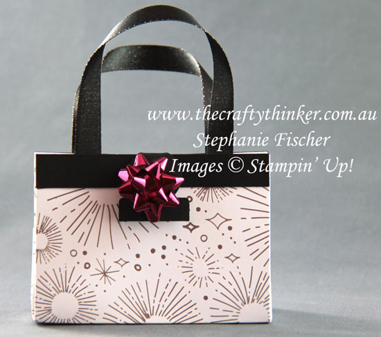 #thecraftythinker, #tablefavours, #cardmaking, #stampinup, #christmas, Christmas Table Favours, Handbag table favour, Stampin' Up Australia Demonstrator, Stephanie Fischer, Sydney NSW