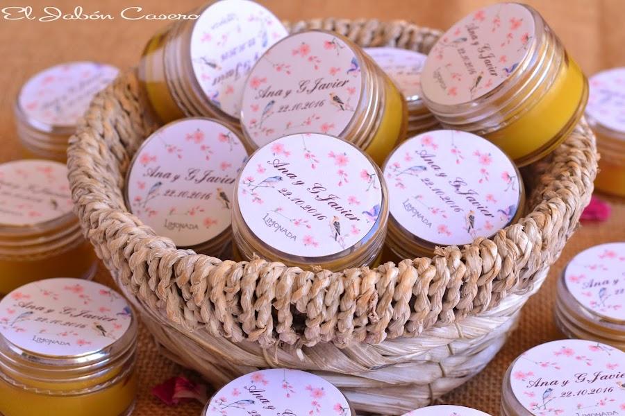 Detalles para bodas balsamos naturales karite
