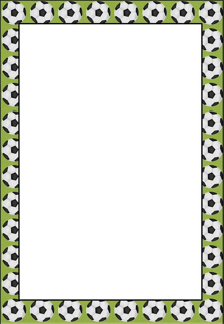 Soccer Free Printable Frames Invitations Or Cards Oh