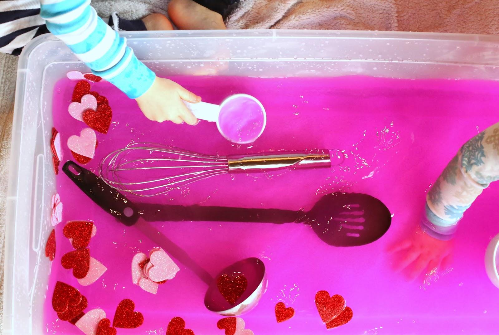 Toddler Sensory Play Valentine S Day Soup