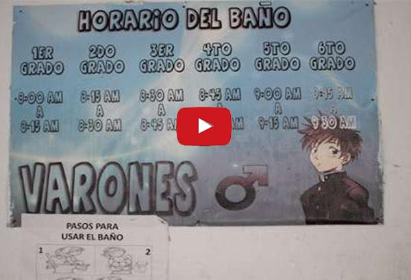 Sólo en Venezuela imponen a niños horario para cagar