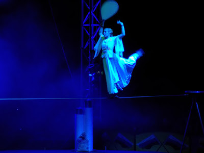 Tightrope walker at Moscow State Circus