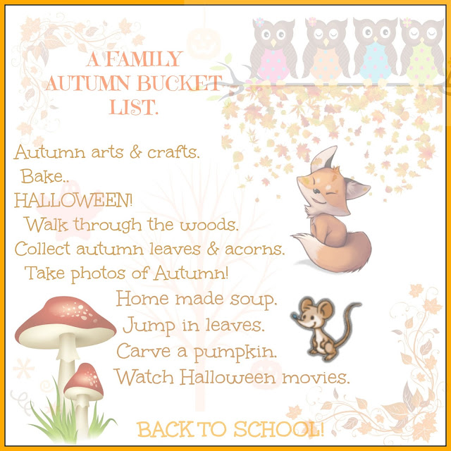 A family Autumn Bucket List @ Ups and downs, smiles and frowns