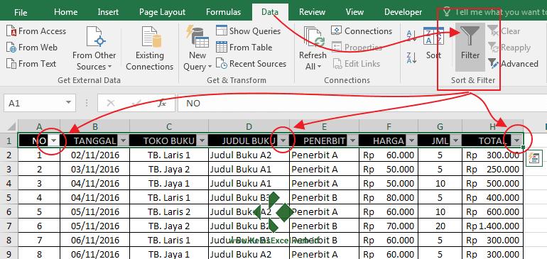 Autofilter Data Pada Excel 2