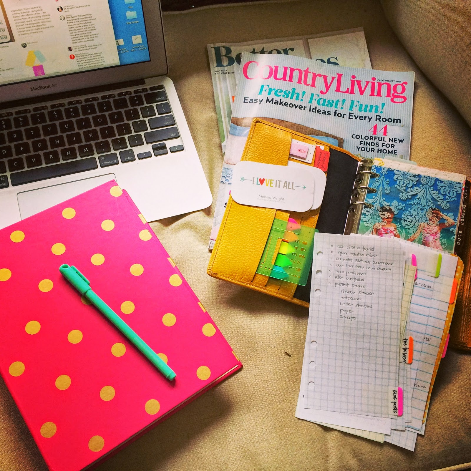 Blog Planning in your Filofax Planner | iloveitallwithmonikawright.com