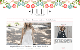 Juliet Minimal Blogger Template