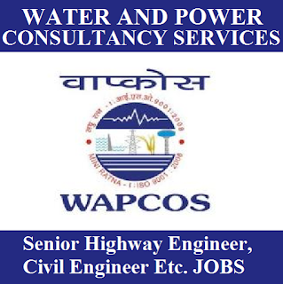 Water Resources, Power and Infrastructure Sectors, WAPCOS, Engineer, Graduation, freejobalert, Sarkari Naukri, Latest Jobs, wapcos logo