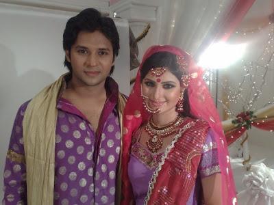 Anika Kabir Shokh with banglalink model Emon and Nirob