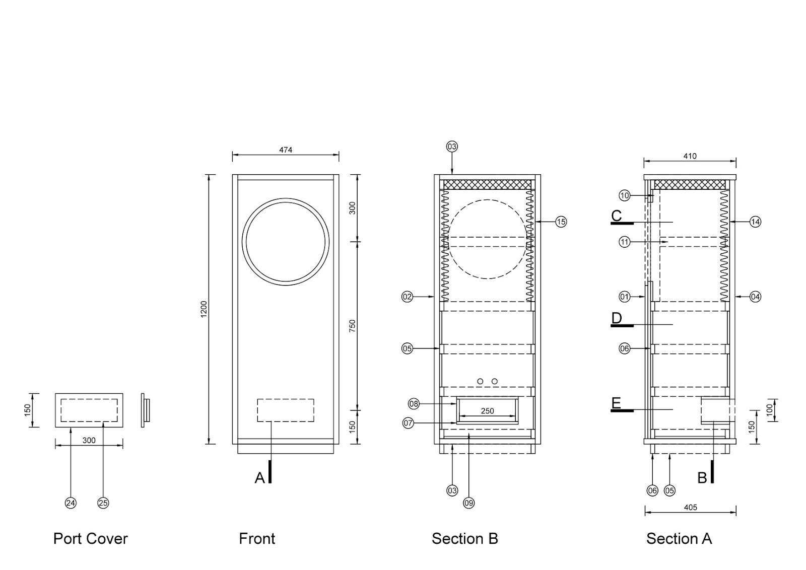 4 10 Ported Subwoofer Box Plans