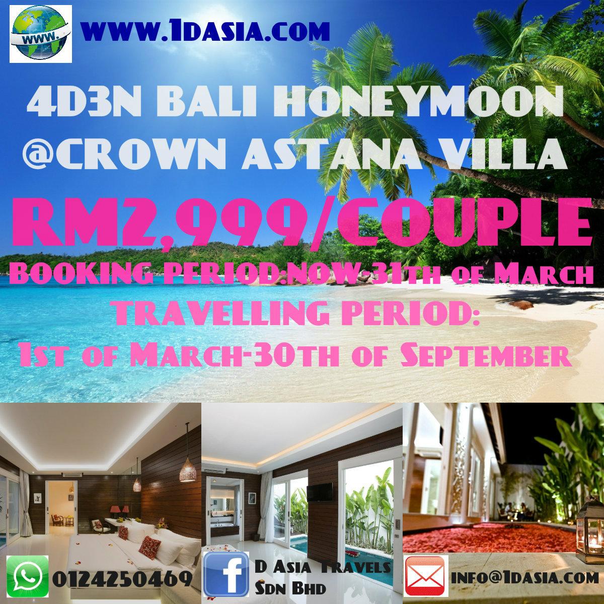 4D3N Bali Honeymoon Turtle Island