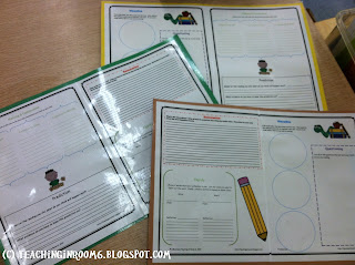 comprehension strategies, reading response, laminated