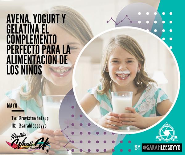 Avena-Yogurt-Gelatina-complemento-alimentación-niños