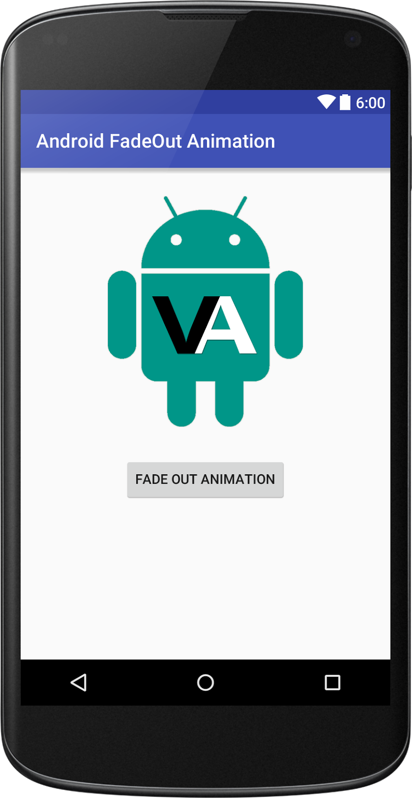 you lot volition larn to brand fade out animation inwards android application Fade Out Animation inwards Android